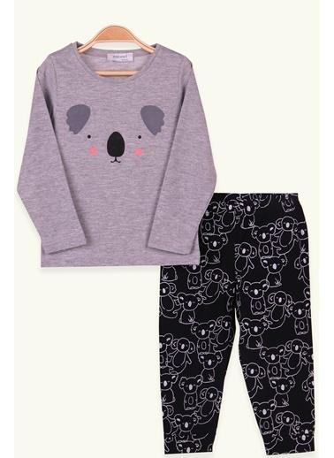 Breeze Çocuk Pijama Takımı Koala Desenli Gri (1.5-4 Yaş) Gri